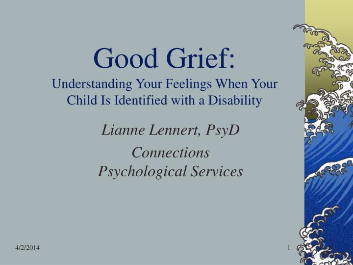 good grief understanding your feelings when your child is identified with a disability n.