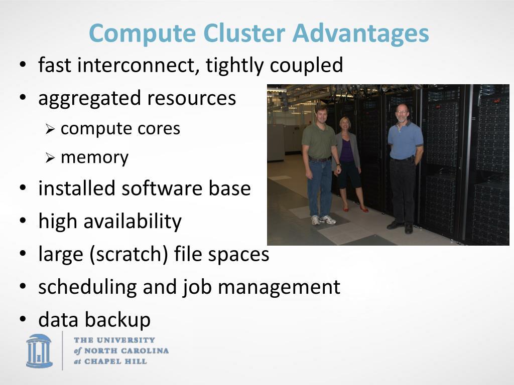 Compute Cluster Advantages