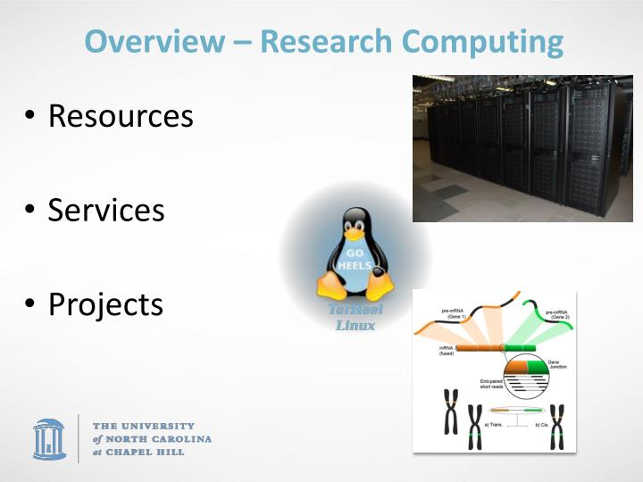 Overview research computing