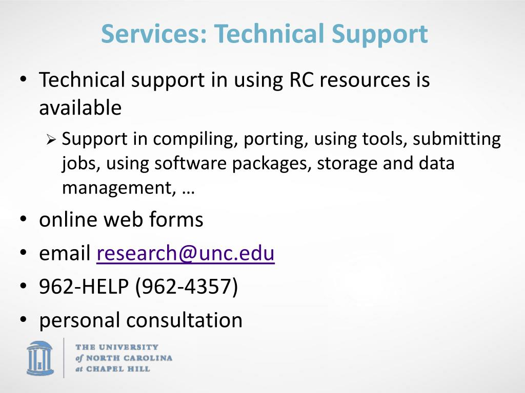 Services: Technical Support