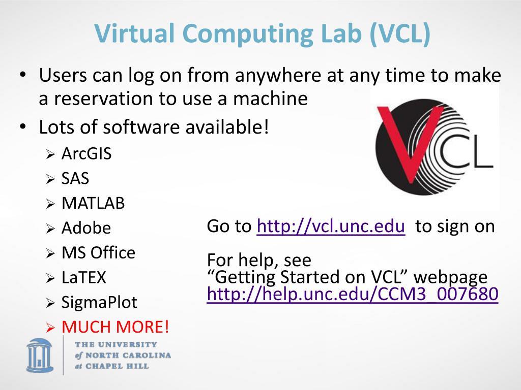 Virtual Computing Lab (VCL)
