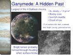 ganymede a hidden past