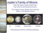 jupiter s family of moons