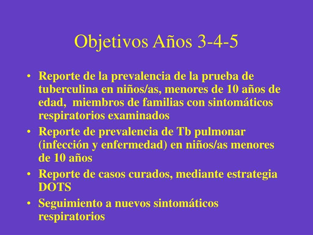 Objetivos Años 3-4-5