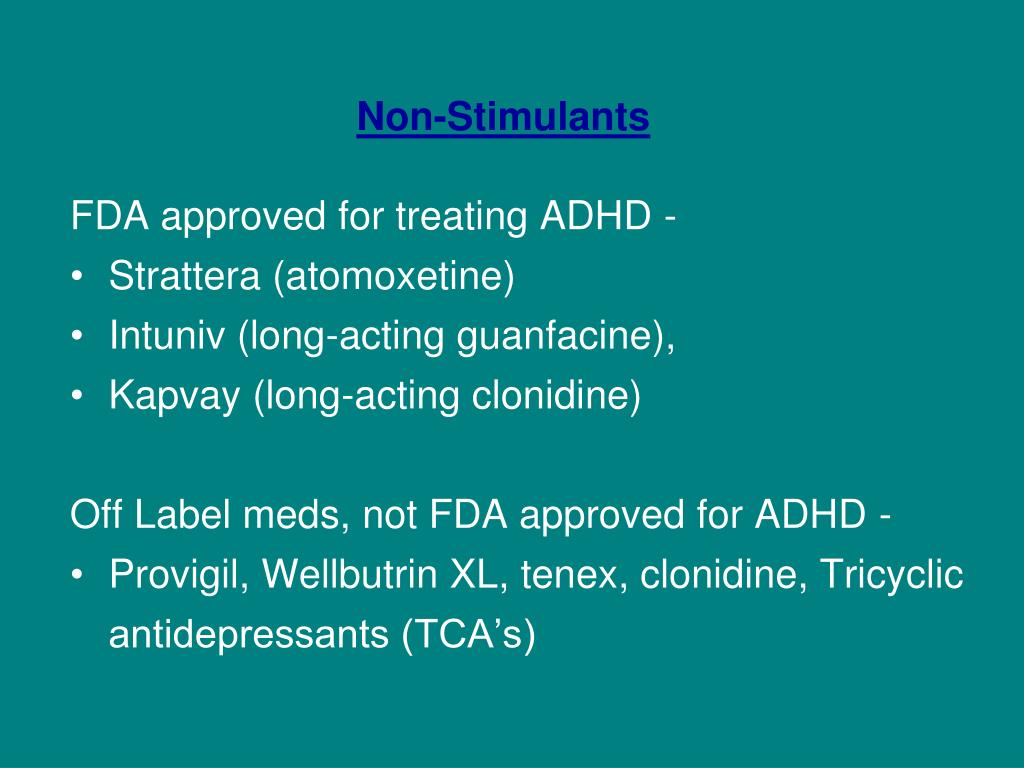PPT - ADHD MEDICATIONS Myths and Facts ADHD Awareness Day