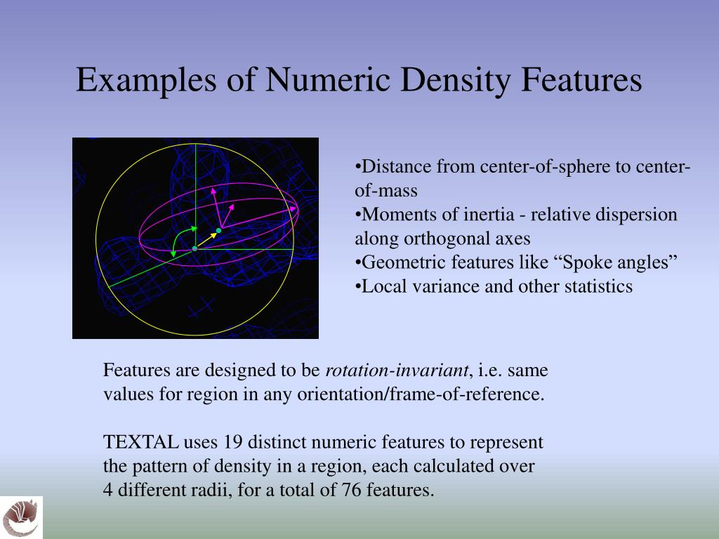 Examples of Numeric Density Features