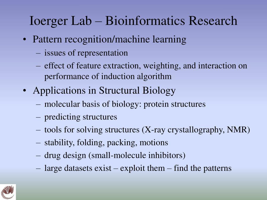 Ioerger Lab – Bioinformatics Research