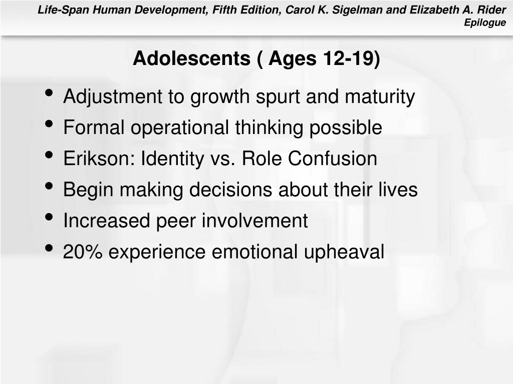 Adolescents ( Ages 12-19)