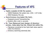 features of xfs