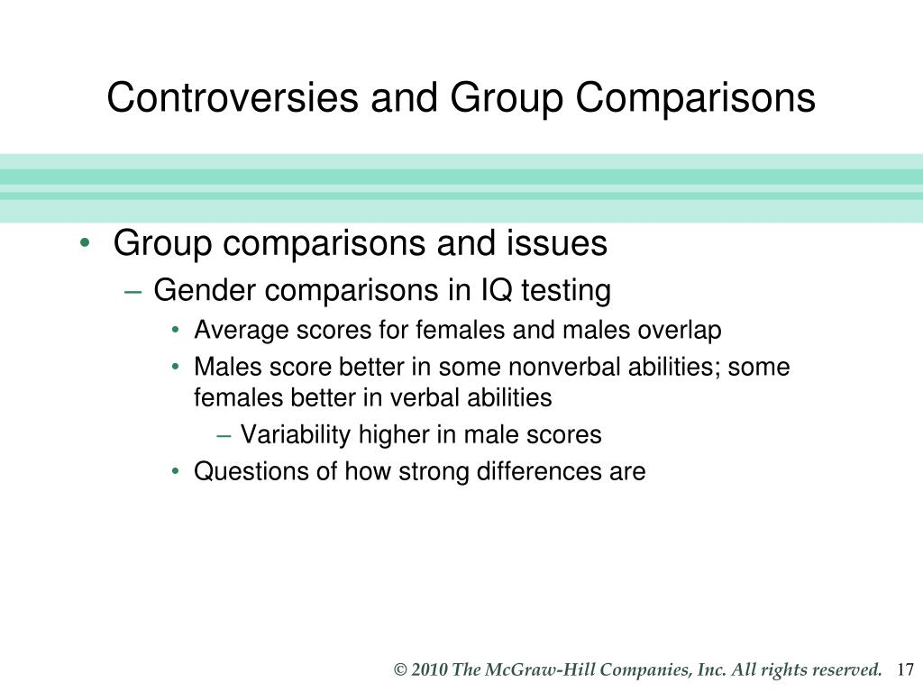 Controversies and Group Comparisons