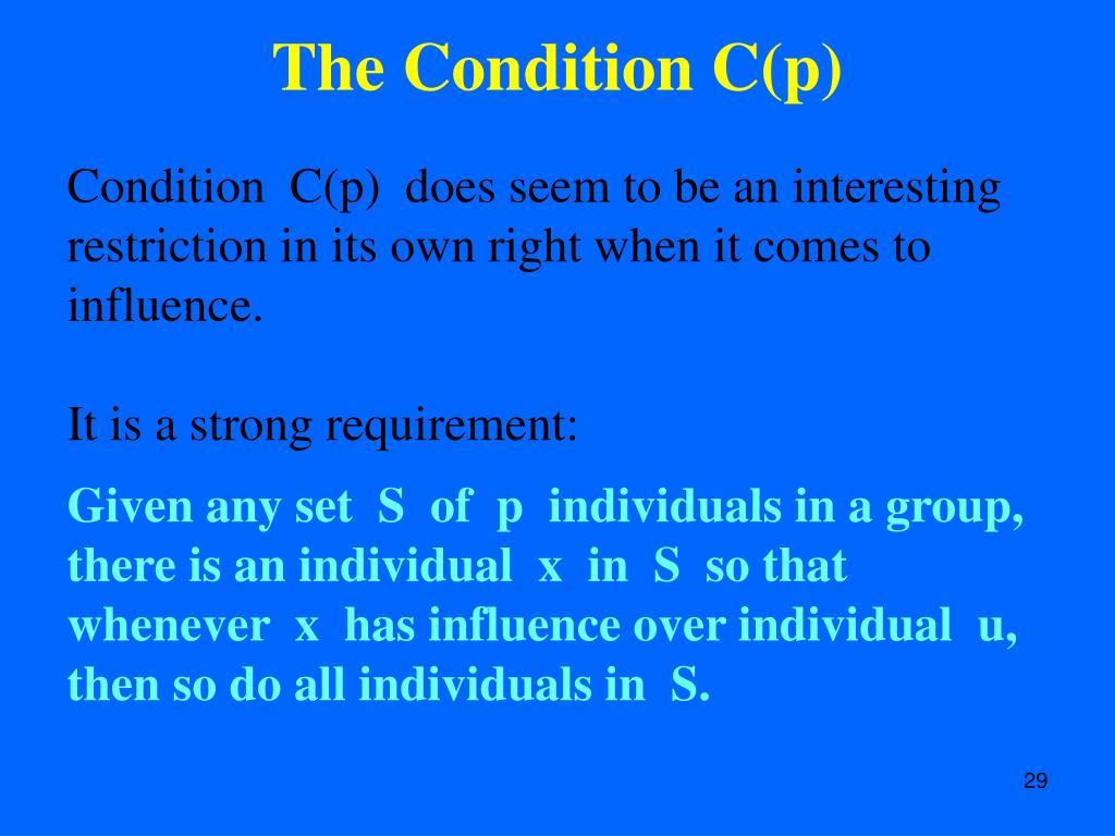 The Condition C(p)
