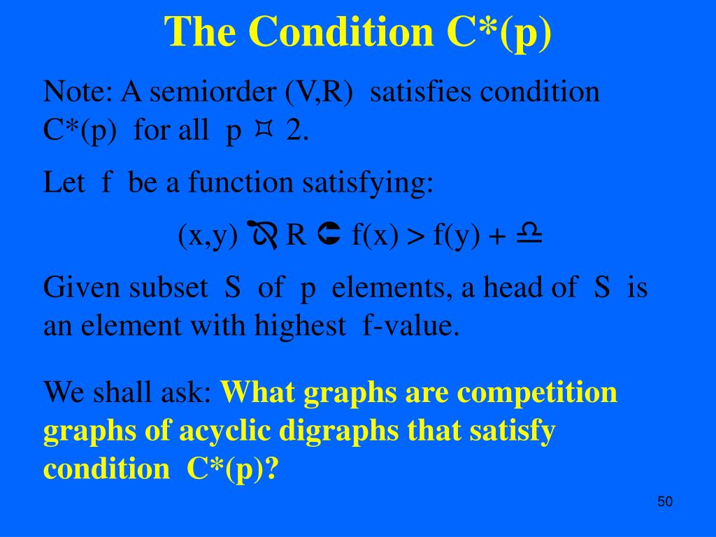 The Condition C*(p)