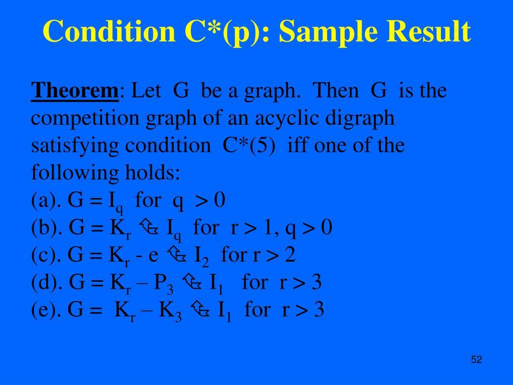 Condition C*(p): Sample Result