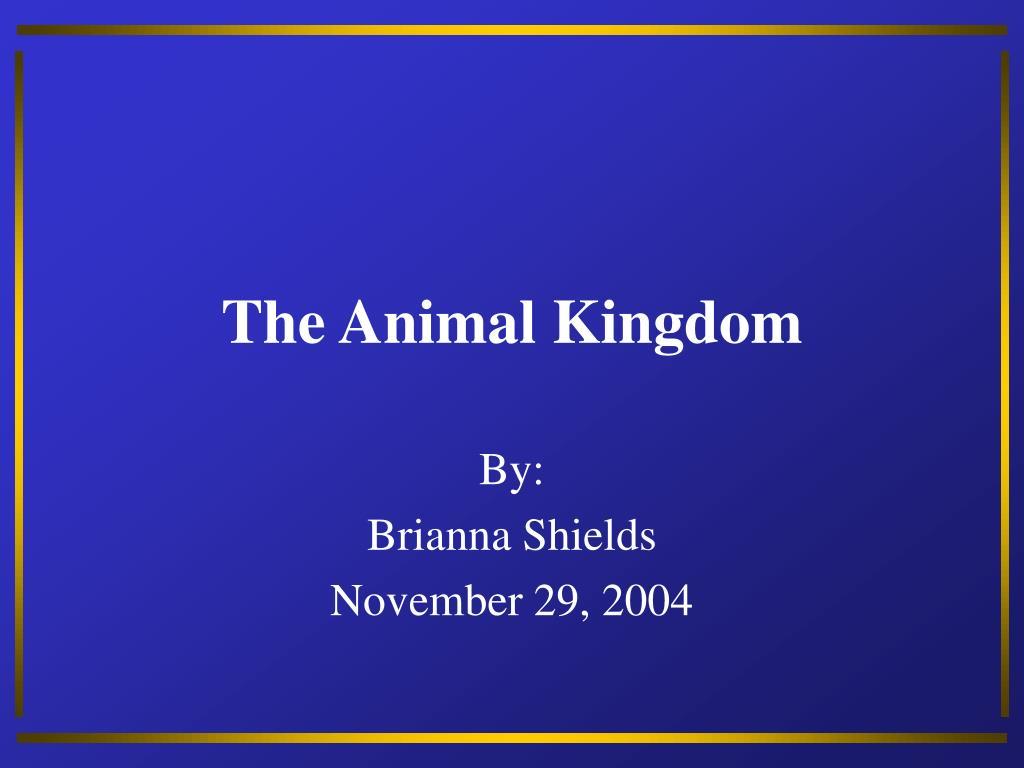the animal kingdom l.