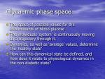 glycaemic phase space