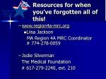 resources for when you ve forgotten all of this
