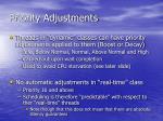 priority adjustments