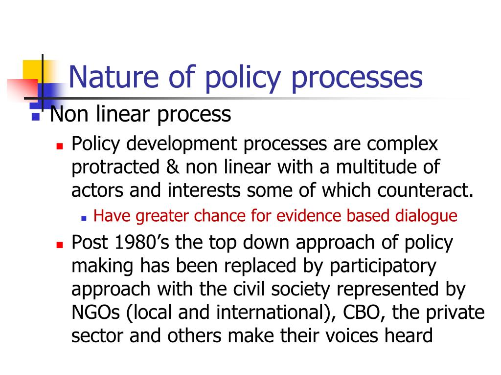 Nature of policy processes