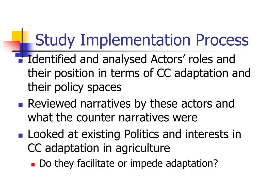 Study Implementation Process