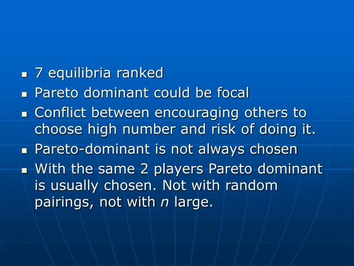 7 equilibria ranked