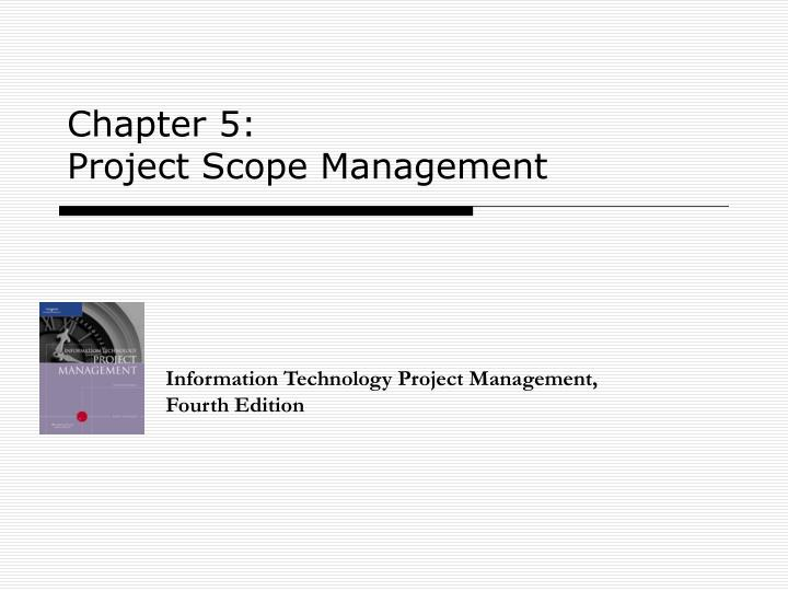 chapter 5 project scope management n.