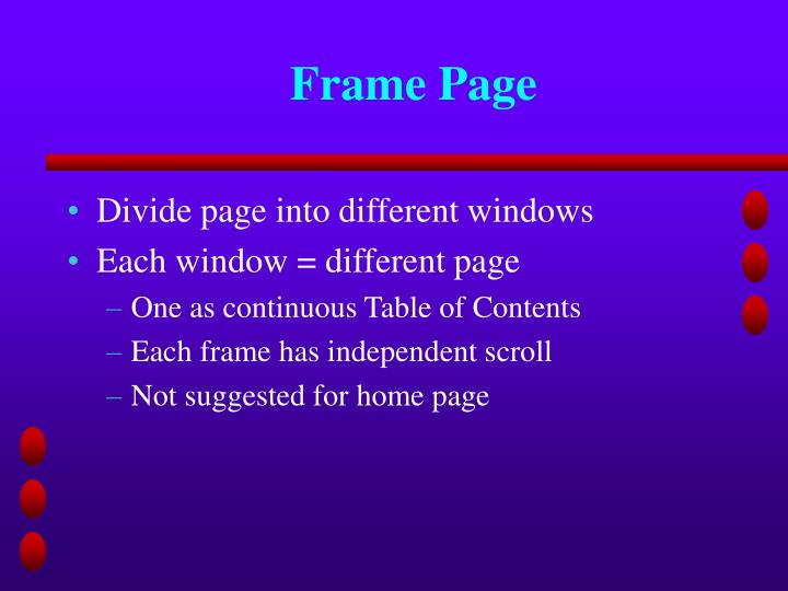 Frame Page