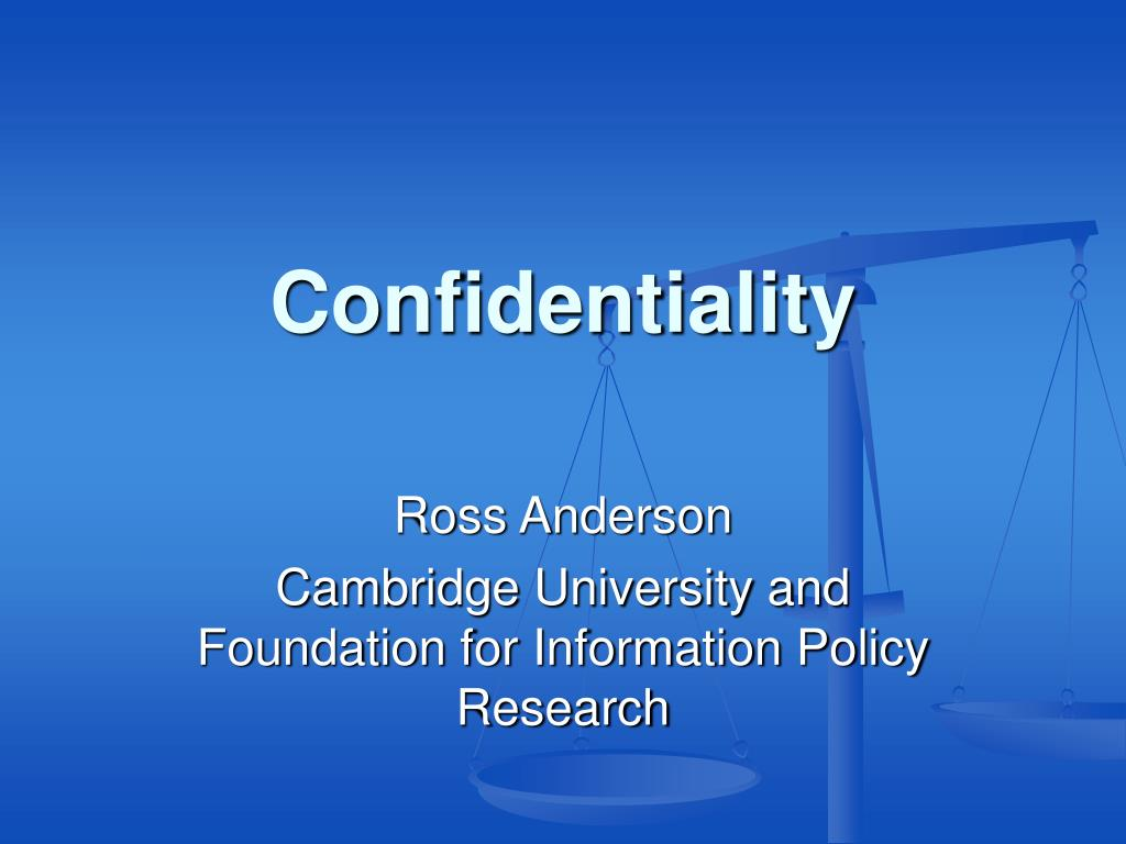 confidentiality l.