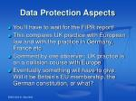data protection aspects