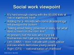 social work viewpoint