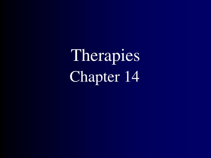 therapies n.