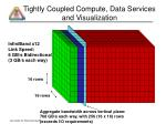 tightly coupled compute data services and visualization