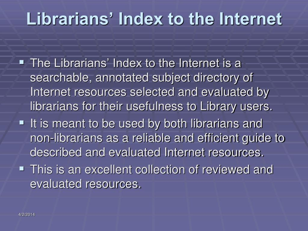 Librarians' Index to the Internet
