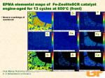 epma elemental maps of fe zeolitescr catalyst engine aged for 13 cycles at 850 c front