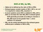 scr of no x by nh 3