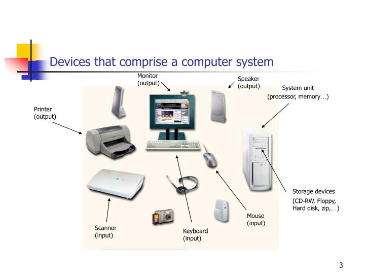 Devices that comprise a computer system