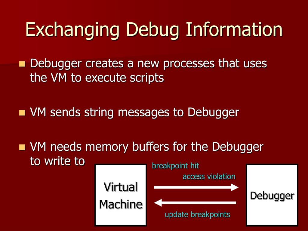 Exchanging Debug Information