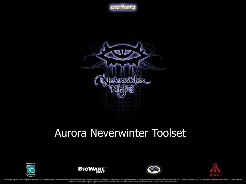 Aurora Neverwinter Toolset