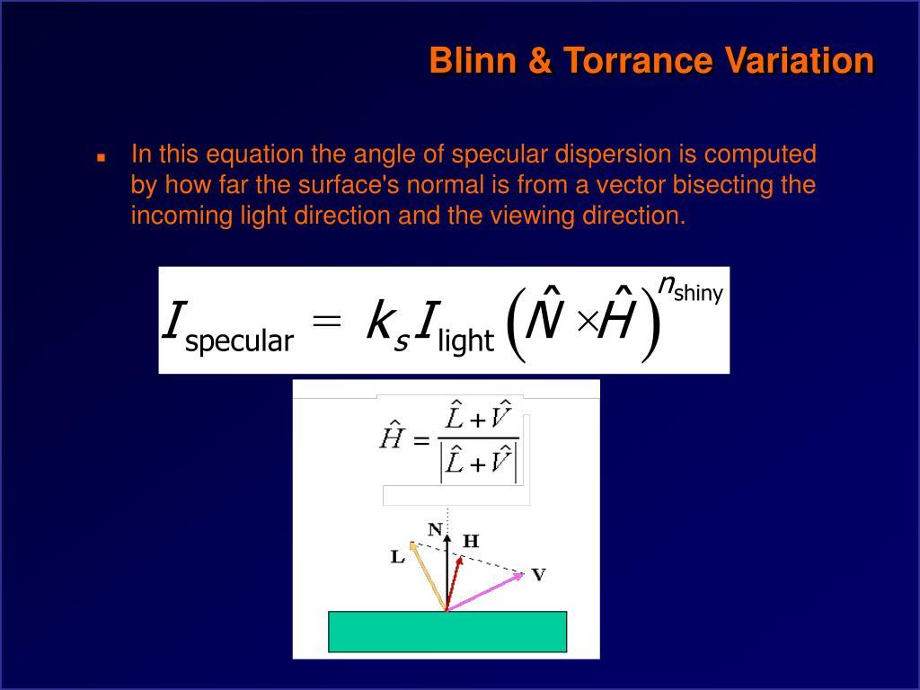 Blinn & Torrance Variation