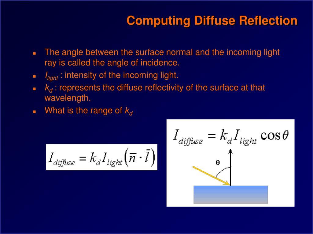 Computing Diffuse Reflection