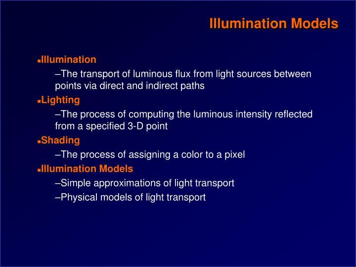 Illumination models