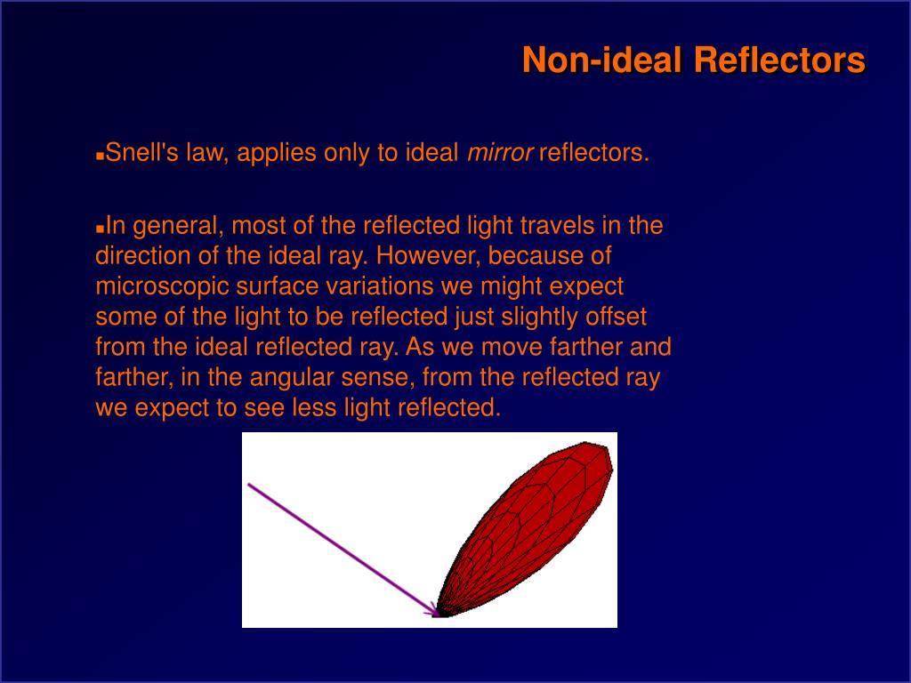 Non-ideal Reflectors