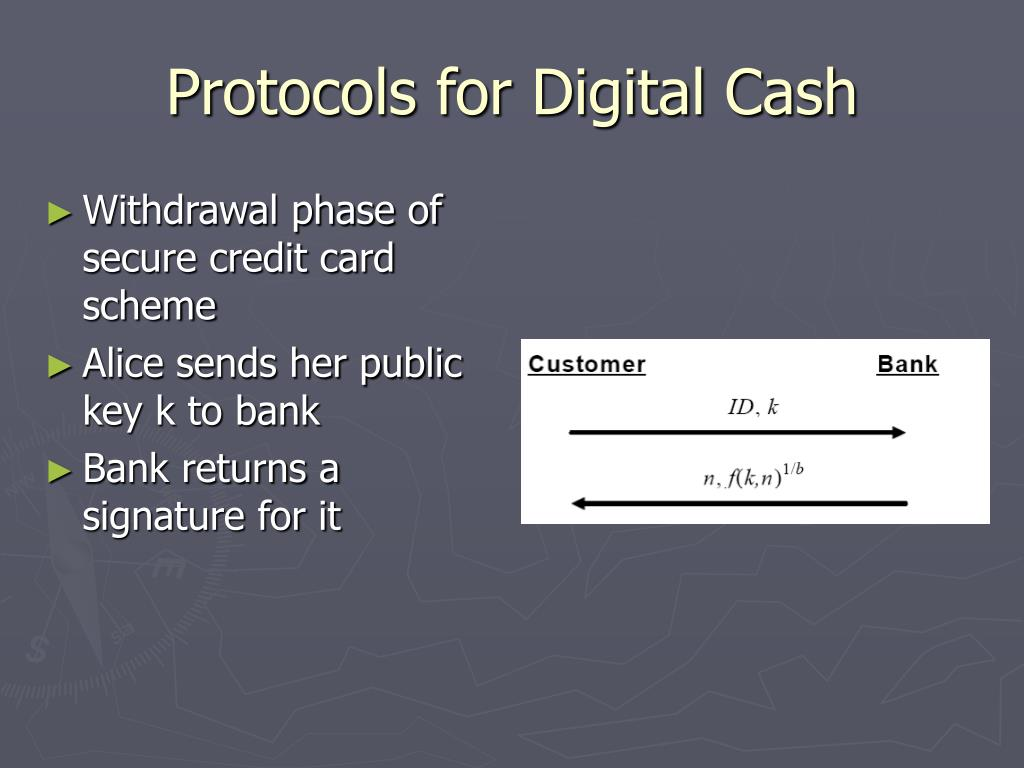 Protocols for Digital Cash