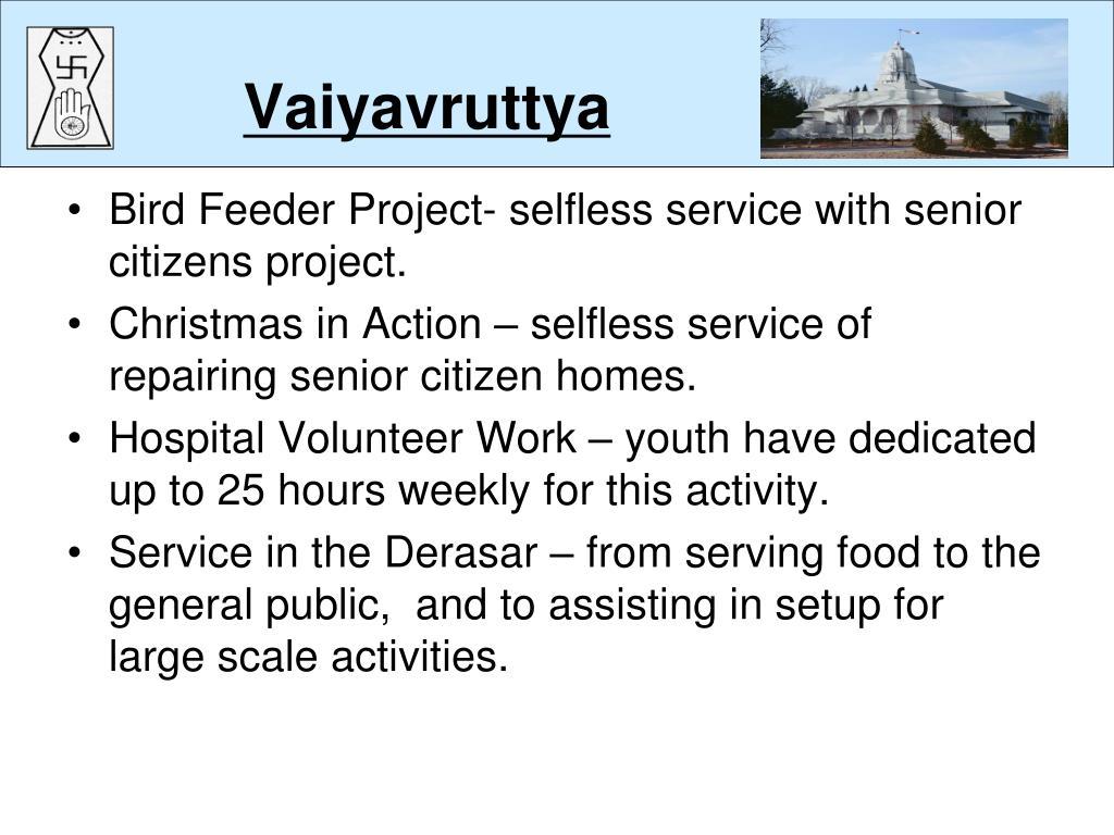 Vaiyavruttya