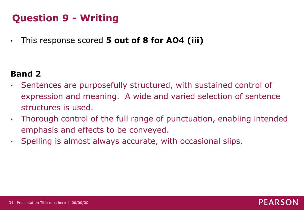 Question 9 - Writing