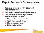 keys to successful documentation