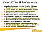 visio 2007 for it professionals