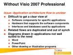 without visio 2007 professional