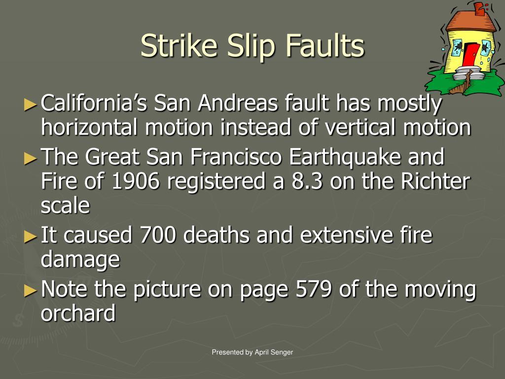 Strike Slip Faults