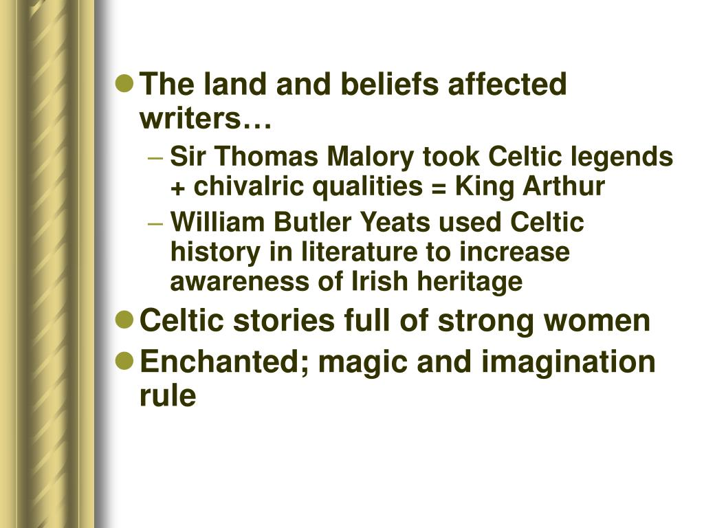 The land and beliefs affected writers…
