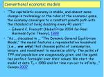 conventional economic models6